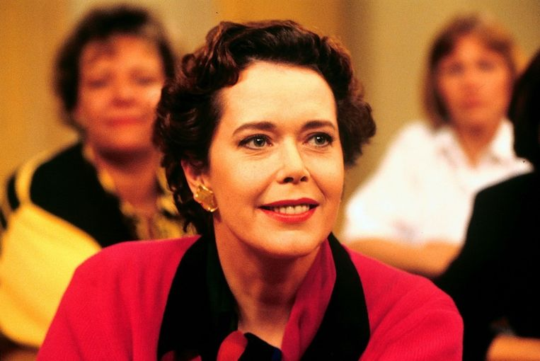Kristel te gast bij het programma Klasgenoten, 1992. Beeld null