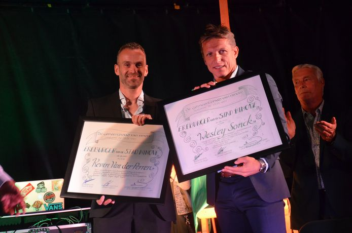 Inhuldiging Wesley Sonck en Kevin Van der Perren als ereburgers van Ninove.