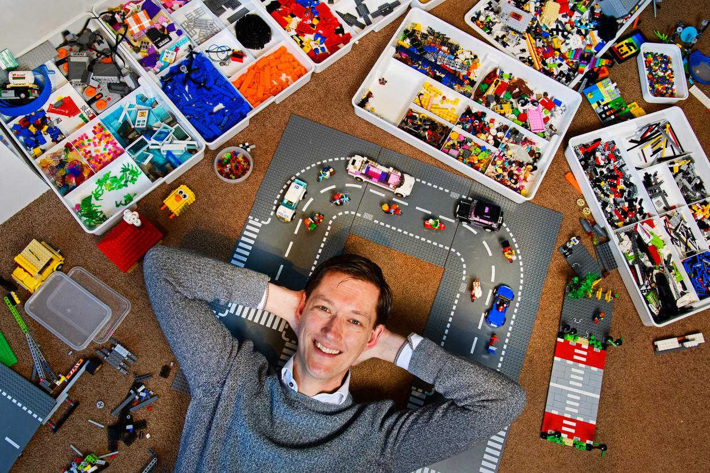 Marcel Steeman pleit voor fietspaden bij Lego. Beeld Olaf Kraak