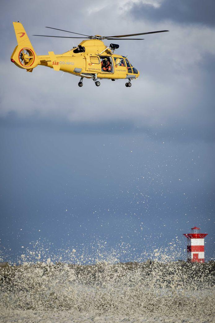 Een helikopter van de kustwacht.