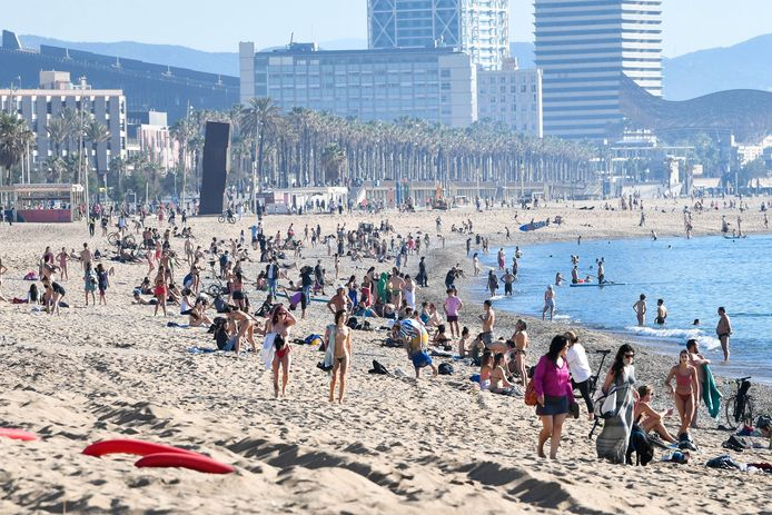La plage à Barcelone.