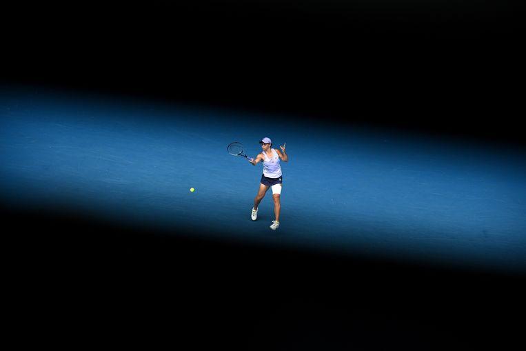 Ashleigh Barty in haar tweederondepartij tegen Daria Gavrilova. Beeld EPA