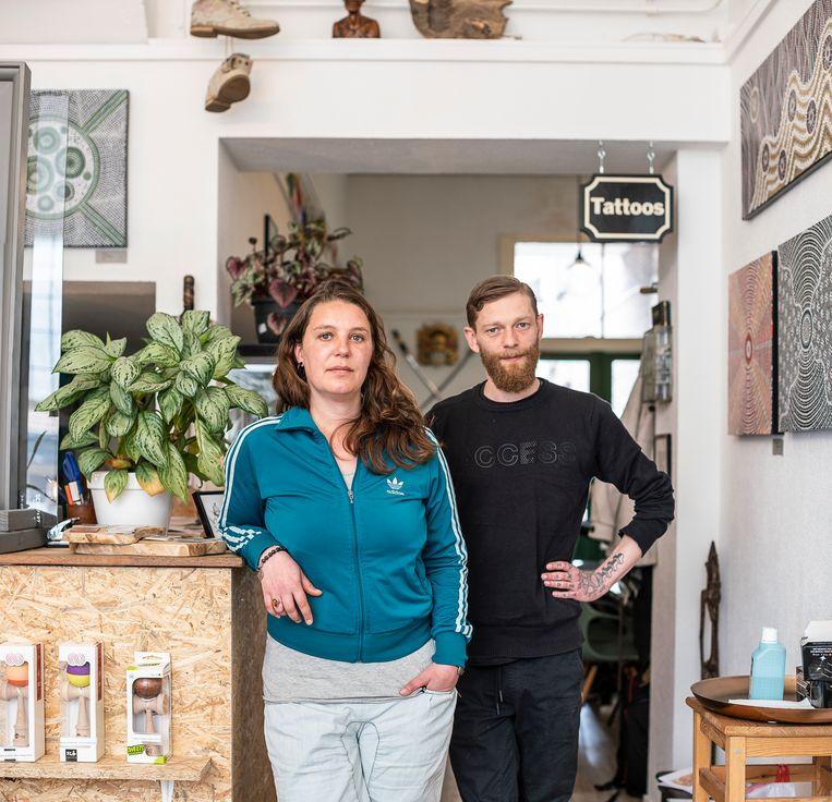 Else van Loenen en haar vriend Kristjan Schwartz. Beeld Harry Cock / de Volkskrant