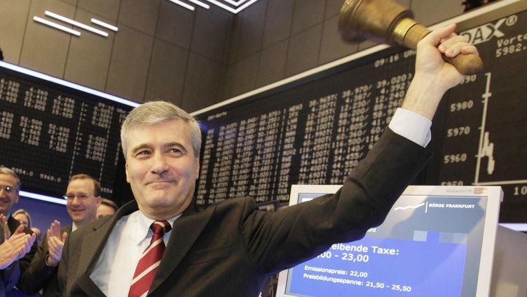 CEO van Kabel Deutschland, Adrian von Hammerstein op 22 maart 2010. Beeld AFP