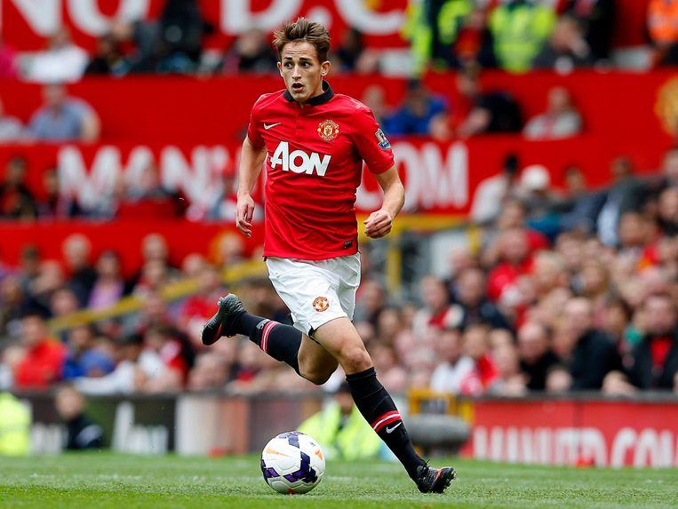 Adnan Januzaj in het shirt van Manchester United.