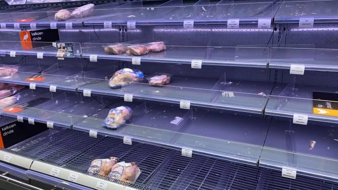 Carrefour kampt met lege winkelrekken door staking