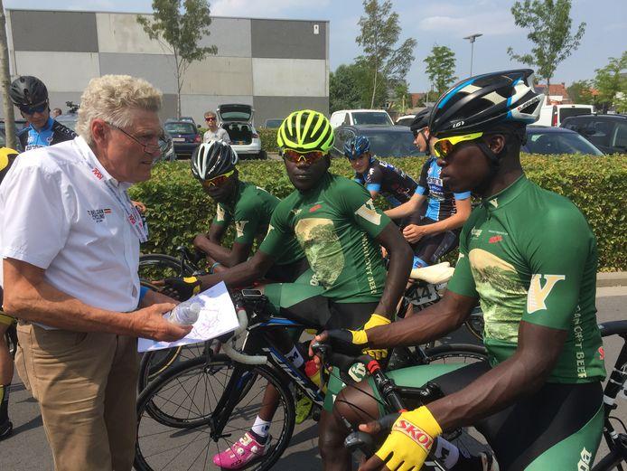 De Rwandese renners, vorige zomer in actie in Vlaanderen.