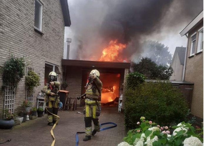Brand in een schuur in Nieuwleusen.