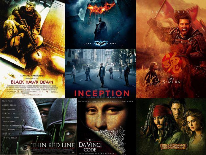 Een greep uit de vele soundtracks van componist Hans Zimmer.