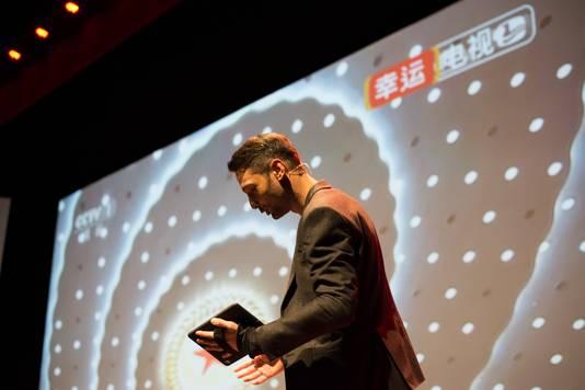 Sander van der Pavert in zijn theaterprogramma Lucky Live.