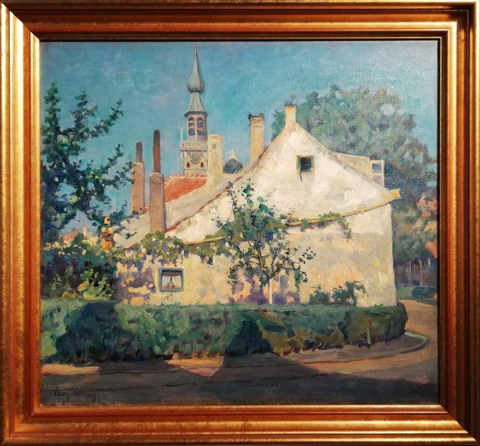 Gezicht op Markt hoek Oudestraat van Louis Heymans