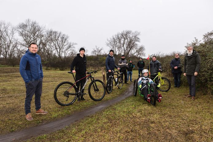 Het vernieuwde mountainbikeparcours is afgewerkt