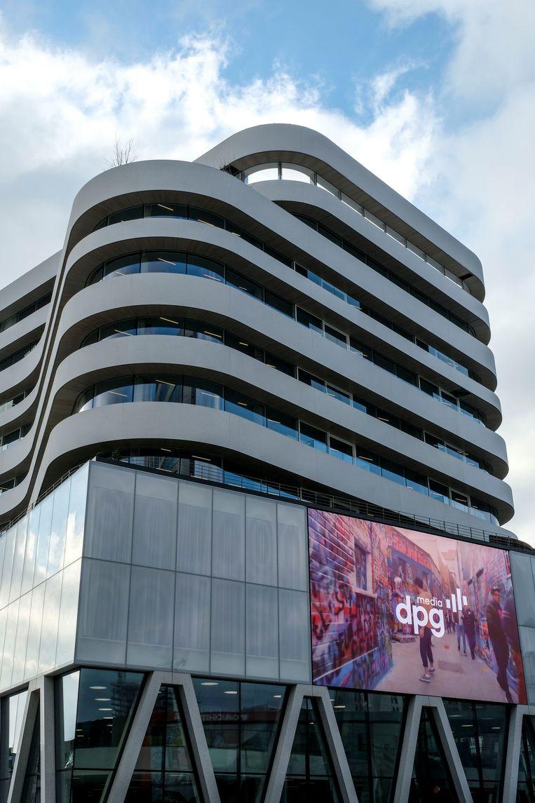 DPG Media in Antwerpen. Beeld BELGA