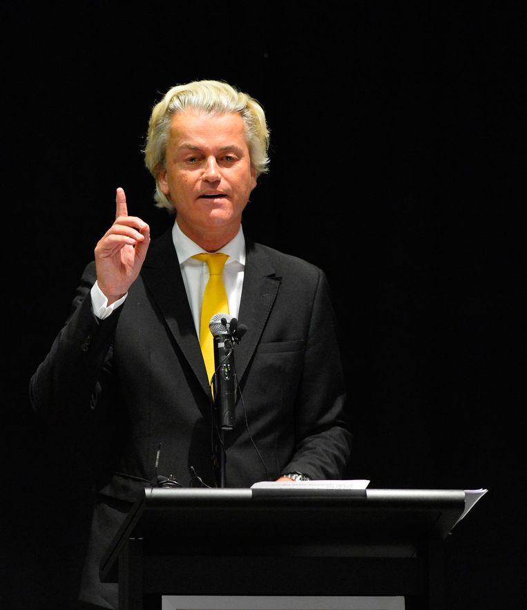 Geert Wilders steelt een fortuynisme. Beeld epa
