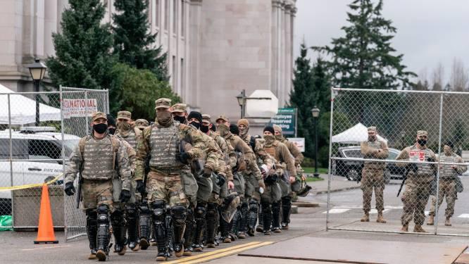 """Bijna enkel militairen op straat in Washington: """"Het lijkt hier wel een film"""""""