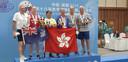 Arthur Weyenberg en Marc Rossel (rechts) behaalden brons bij het indoor roeien.