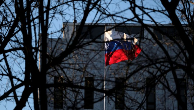 De Russische ambassade in de Amerikaanse hoofdstad Washington. Beeld REUTERS