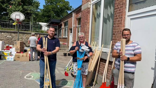 'Glabbeek Helpt' levert drie vrachtwagens en twaalf bestelwagens aan noodgoederen in Trooz, Pepinster en Verviers
