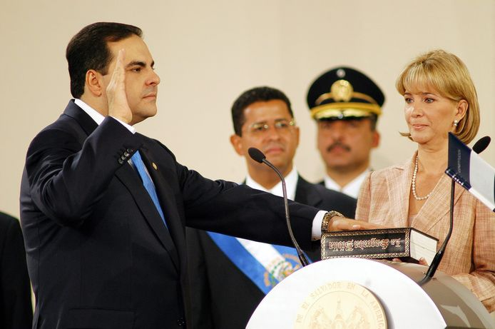 Elias Antonio Saca en Ana Ligia de Saca