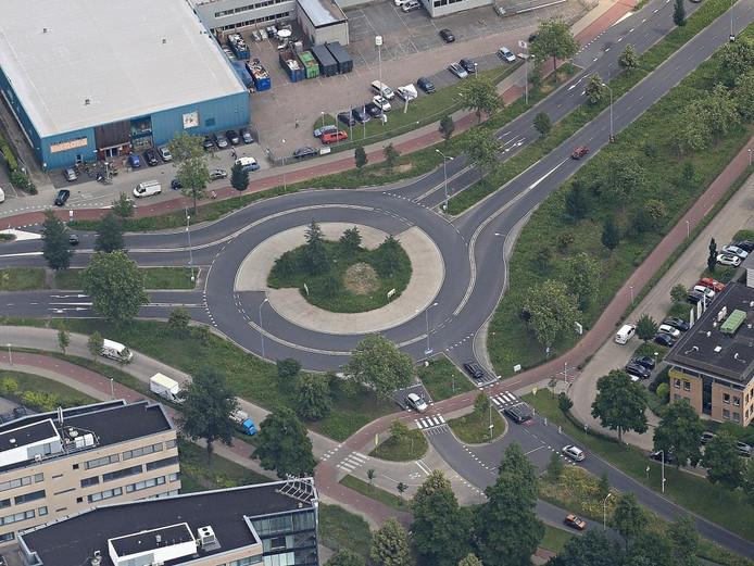 De rotonde met Bikescout in Eindhoven