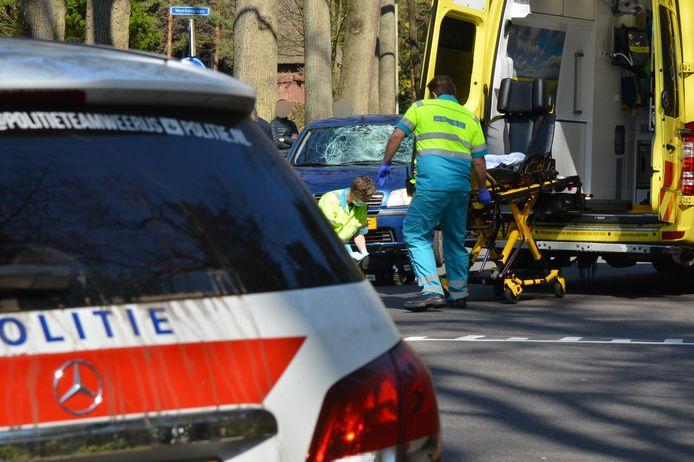 De plek van het ongeluk op de Burgemeester de Manlaan in Breda.