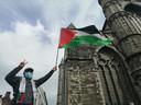 """Free! Free, Palestine!"" werd talloze keren gescandeerd."