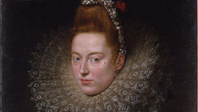 Fragment uit Rubens' 'Portret van een dame'. Beeld rv