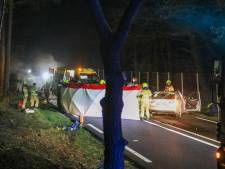 Politie-achtervolging vanuit Duitsland eindigt in enorme crash bij Otterlo: motorblok door de lucht