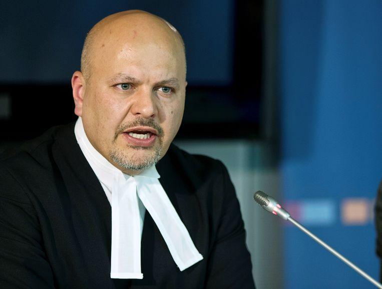 Karim Khan in 2013 bij het Internationaal Strafhof in Den Haag. Beeld Reuters