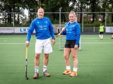 Vader en dochter Pagonidis, samen op het hockeyveld in Asten: 'Wij willen hier iets achterlaten'