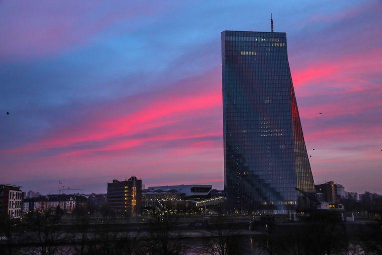Hoofdkwartier van de ECB Beeld AFP