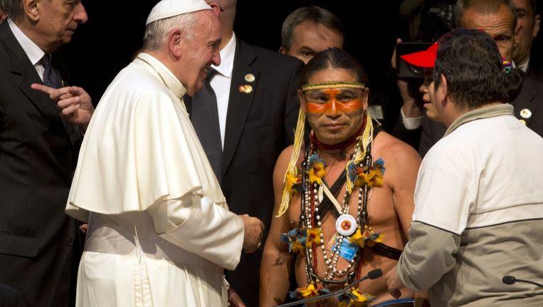Paus Franciscus in Santa Cruz, Bolivia Beeld ap