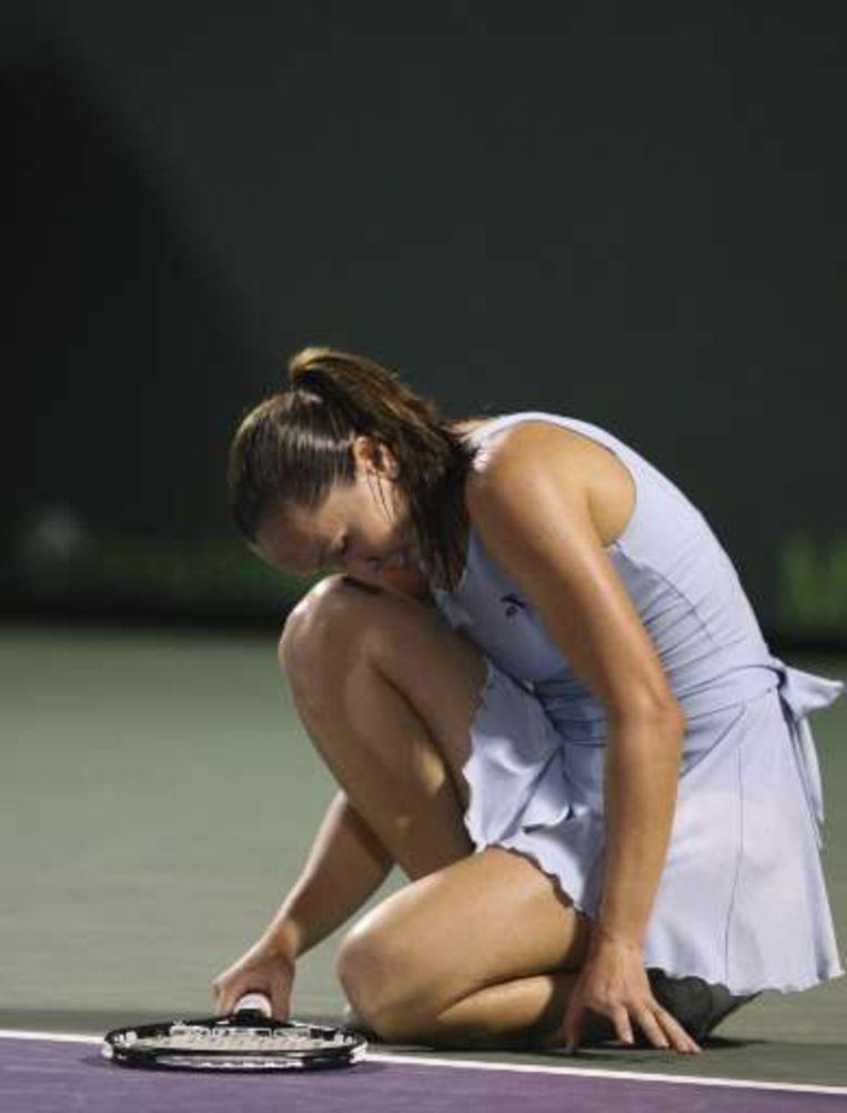 Jankovic was erg ontgoocheld na haar verlies tegen Peer. Beeld UNKNOWN