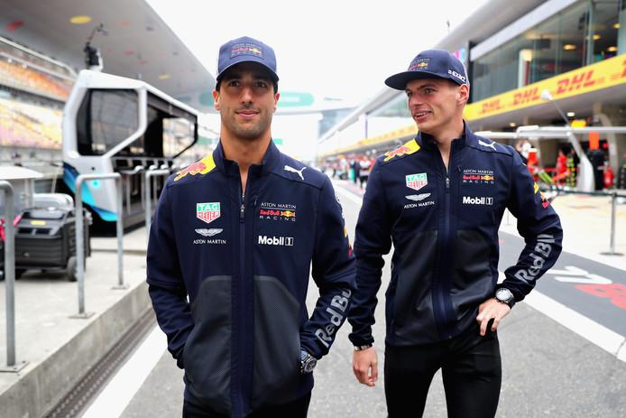 Daniel Ricciardo en Max Verstappen