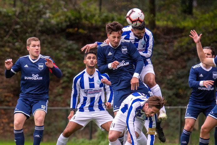 DUNO tegen Scherpenzeel resulteerde vorig seizoen in een 1-0 nederlaag voor de thuisclub uit Doorwerth.