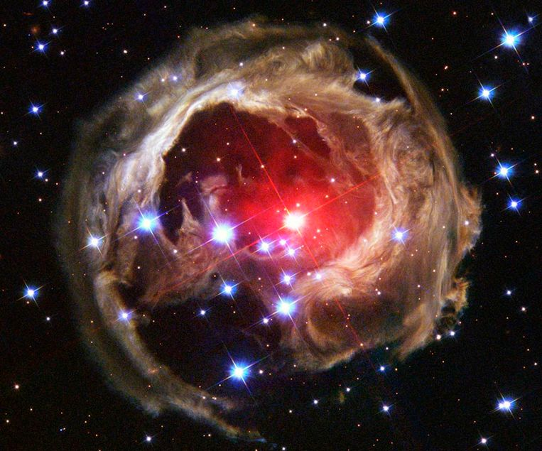 Een van de foto's gemaakt door de Hubble-telescoop. Beeld reuters