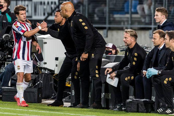 Mats Köhlert werd in de slotfase van de thuiswedstrijd tegen PEC Zwolle (1-0) gewisseld.