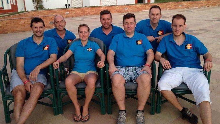 De Belgen nemen met zeven spelers deel aan het WK in Egypte. Beeld adv