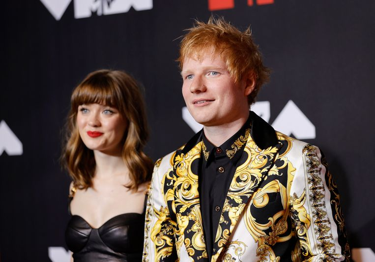 Ed Sheeran en Maisie Peeters op de MTV Video Music Awards in New York eerder dit jaar. Beeld Getty Images