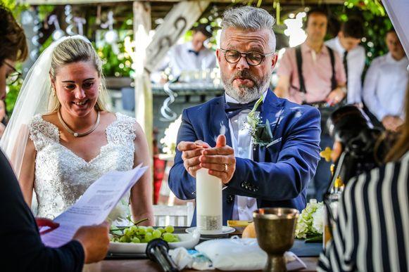 Blankenberge huwelijk Philip Schamp en Justine