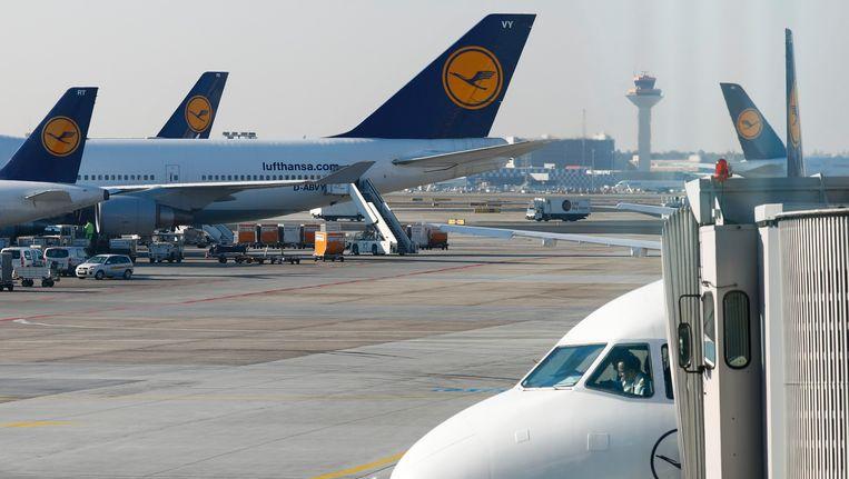Frankfurt verwacht vluchten met bestemming Brussel na de aanslag op Brussels Airlines. Beeld REUTERS