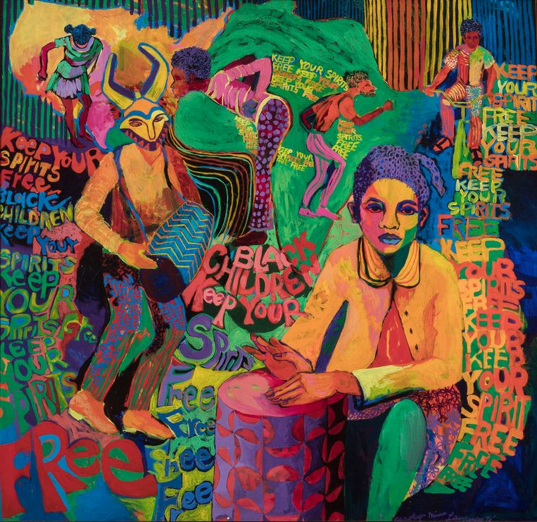Carolyn Lawrence: Keep Your Spirits Free (1972) Beeld rv Courtesy of Carolyn Mims Lawrence