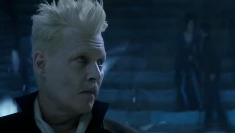 Johnny Depp met een enge contactlens speelt de duistere tovenaar Gellert Grindelwald Beeld Fantastic Beasts