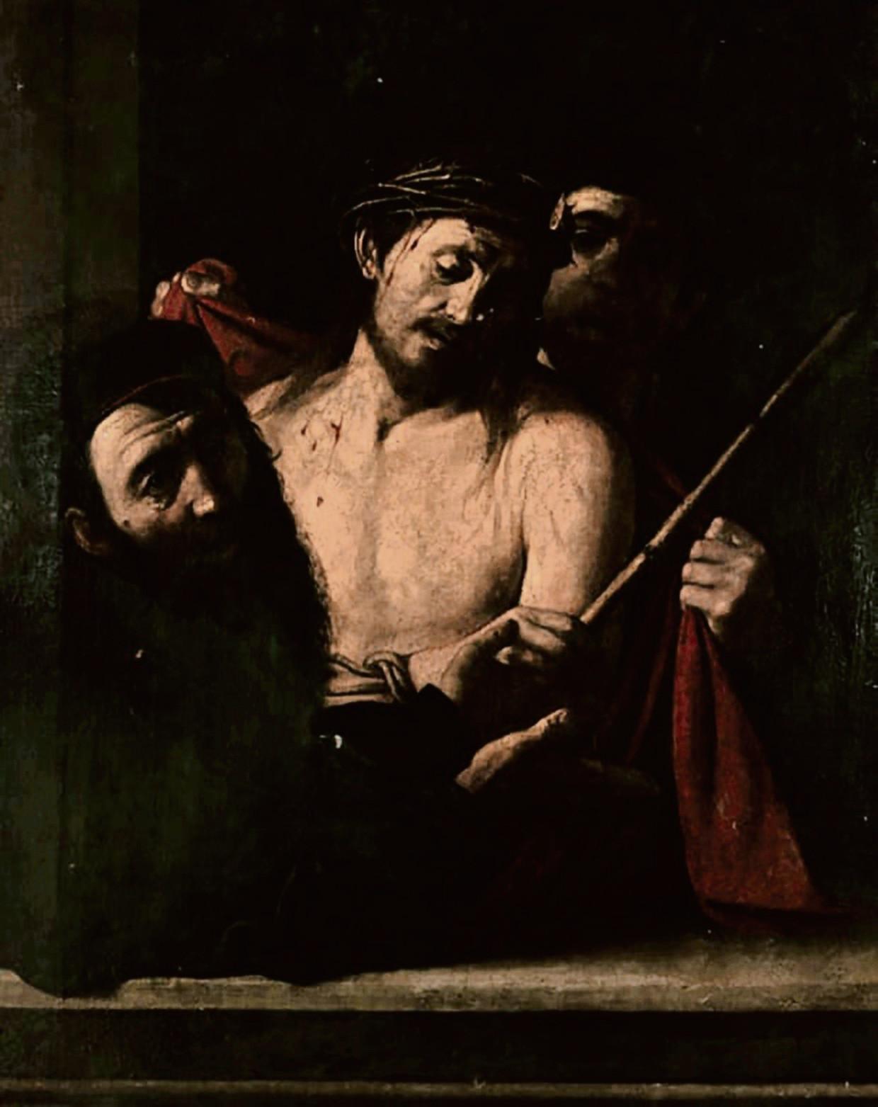 Detail van het zeventiende-eeuwse werk dat eerst aan de Spaanse schilder Ribera werd toegeschreven, maar dat mogelijk een Caravaggio is. Beeld © ansorena