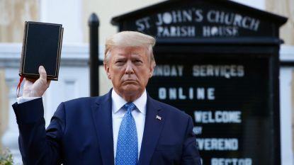 Trump laat vredevol protest in park ontruimen om aan kerk te kunnen poseren, bisschop reageert woedend en politie trekt agenten terug uit protest