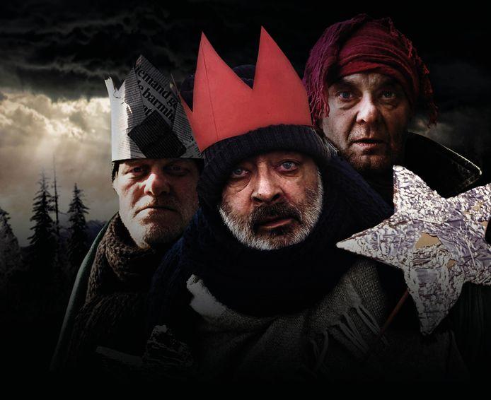 Paul Hoes, Rob van Gestel en Herman van de Wijdeven speelden de drie koningen in 'Waar de ster bleef stille staan' van Het Groote Hoofd.