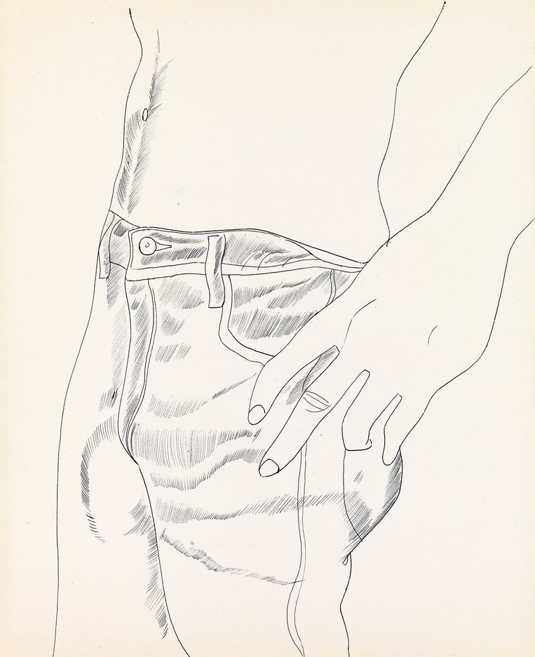Untitled (Hand in Pocket), 1956. Beeld © The Andy Warhol Foundation for the Visual Arts, Inc. / Artists Rights Society (ARS) New York