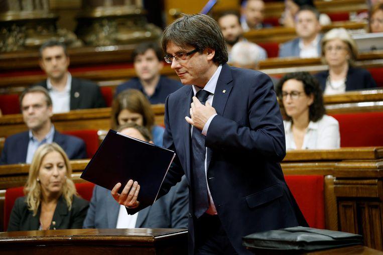 De Catalaanse premier Carles Puigdemont. Beeld REUTERS