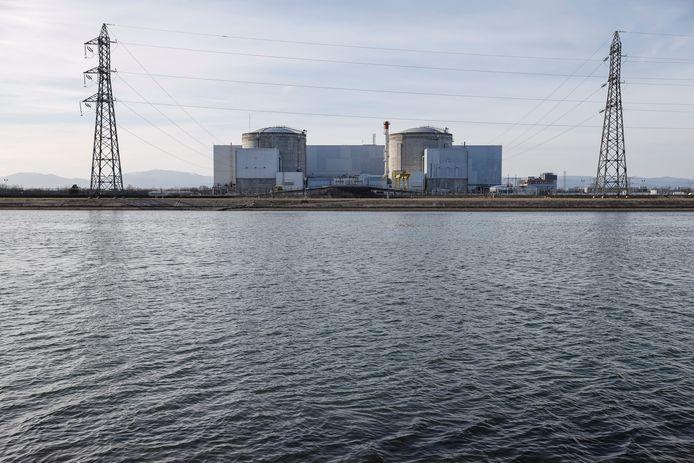 Het nucleaire complex te Fessenheim, in het oosten van Frankrijk. (21/02/2020)
