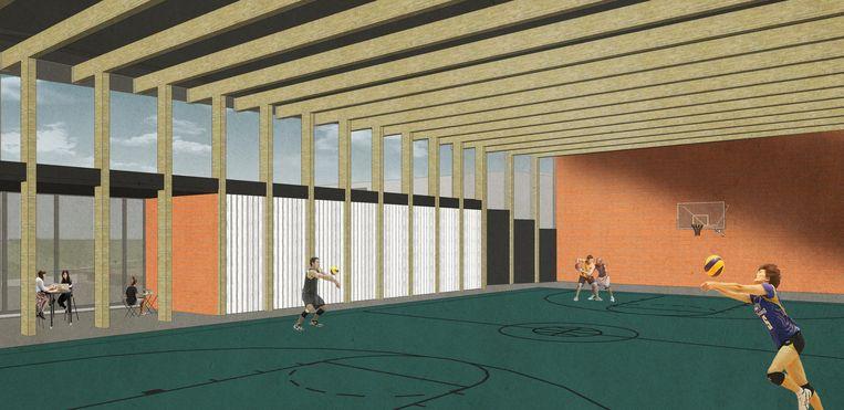 In de nieuwbouw komt ook een sportzaal die buiten de schooluren zal opengesteld worden voor de Zottegemnaren.